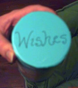 The lid of my wish canister.  Yes, very simplistic.