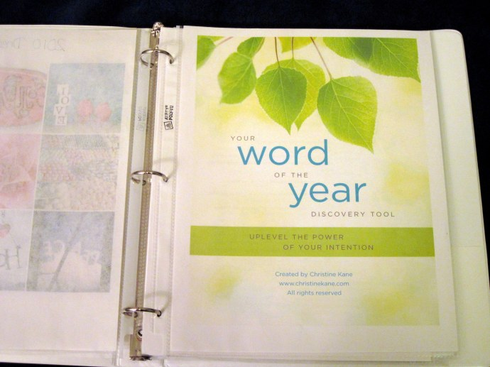 "Christine Kane's ""Your Word of the Year Discovery Tool"""