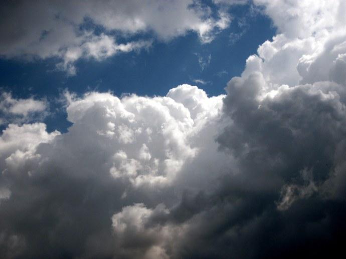Storm clouds building.