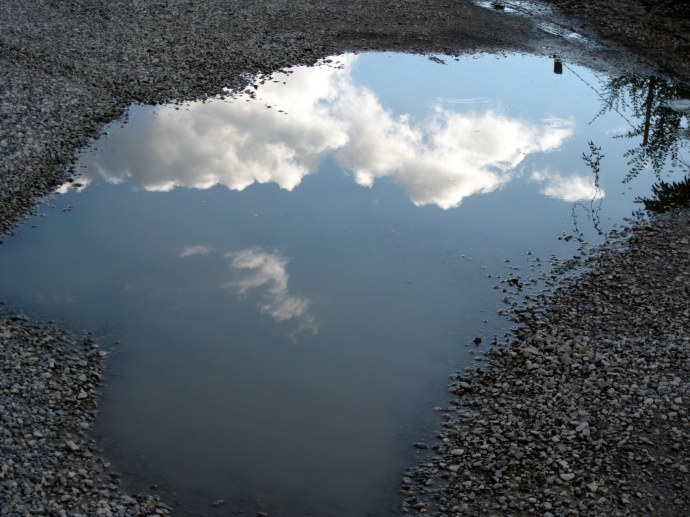 Mirror Puddle. 8/19/2010. Canon PowerShot A 1100 IS.