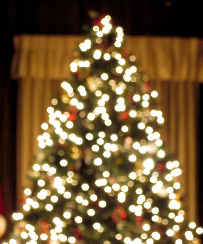 Christmas tree lights, Christmas Eve magic.